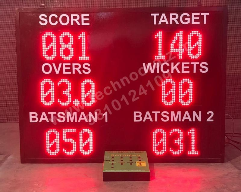 LED Cricket scoreboards New Delhi, India, LED scoreboards, Electronic scoreboard
