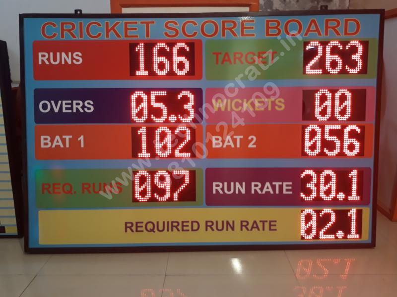 LED Cricket scoreboards. LED Scoreboards manufacturer New Delhi, India. Cricket