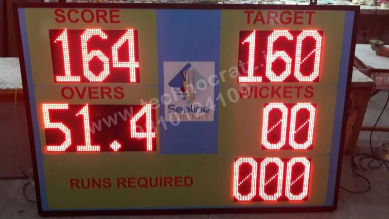LED Cricket scoreboards. LED Scoreboards manufacturer New Delhi, India. 4x6 feet