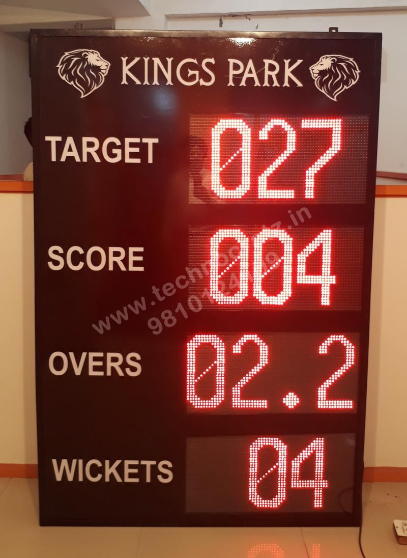 LED cricket scoreboard, semi digital 4 feet x 6 feet with 12 inch, New Delhi