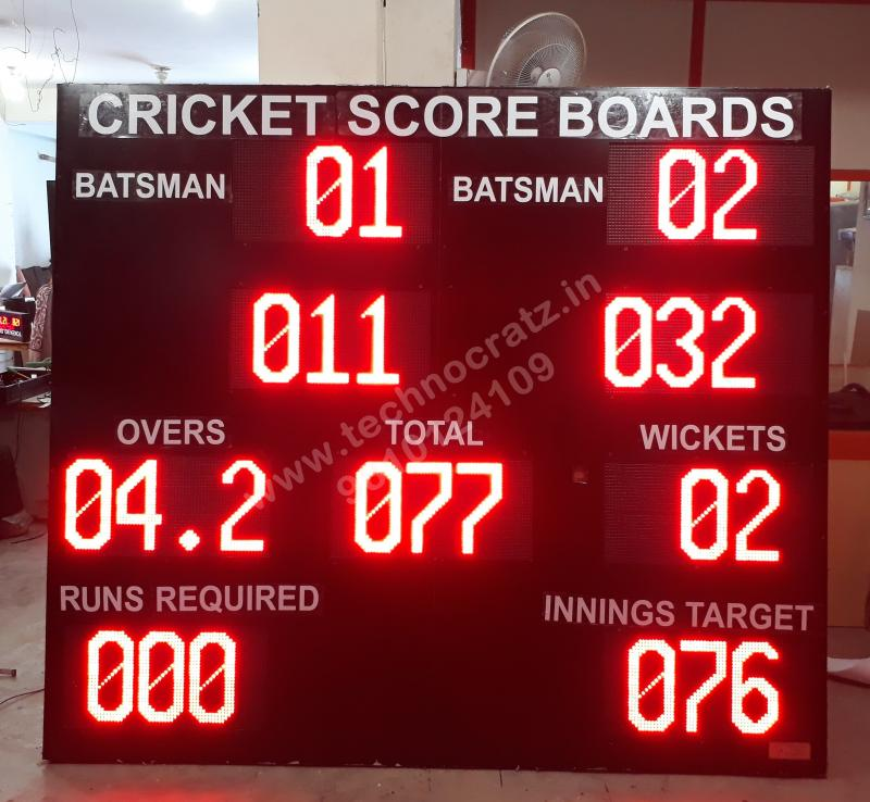LED cricket Scoreboards manufactured in New Delhi India, LED scoreboards meerut