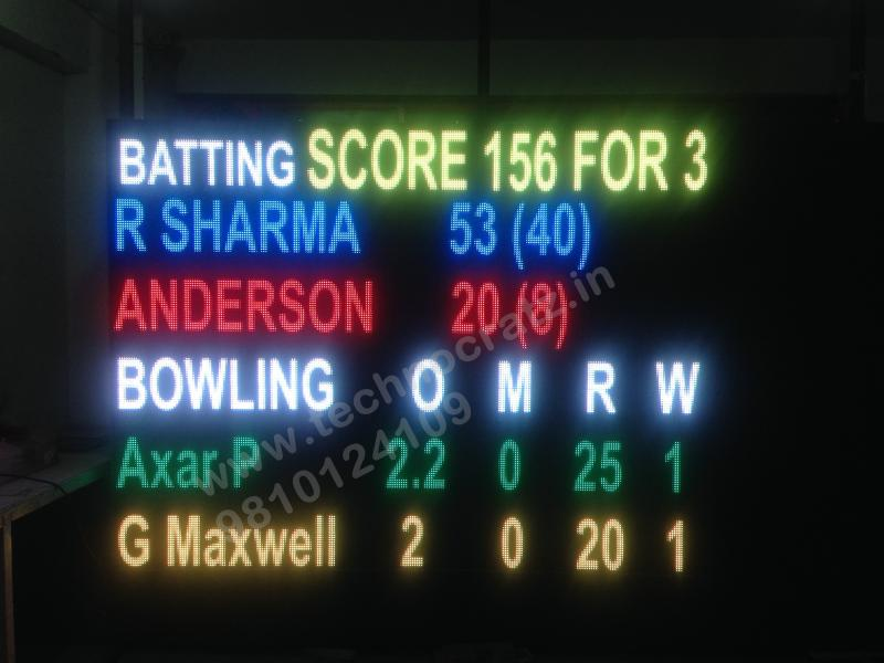 LED Cricket scoreboards. LED Scoreboards manufacturer New Delhi, India. Chennai