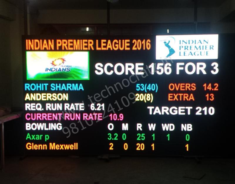 LED Cricket scoreboards. LED Scoreboards manufacturer Delhi, India. Hyderabad