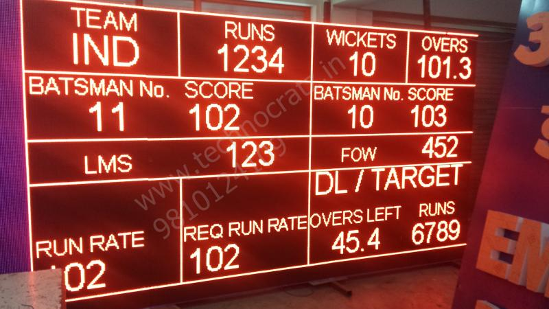 LED Cricket scoreboards. LED Scoreboards manufacturer New Delhi, India. noida