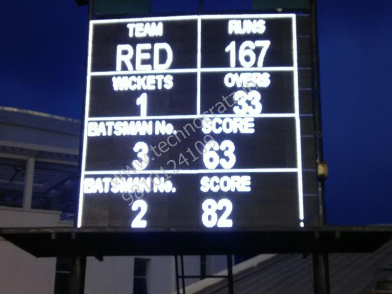 LED Cricket scoreboards. LED Scoreboards manufacturer New Delhi, India. screen