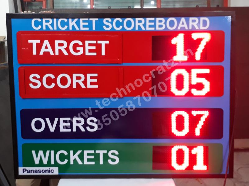 LED Cricket scoreboards. New Delhi, India. Cricket scoreboards manufacturer