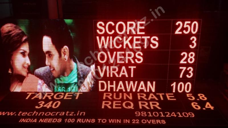 LED cricket scoreboards manufacturer in delhi, india. LED scoreboards, bhopal